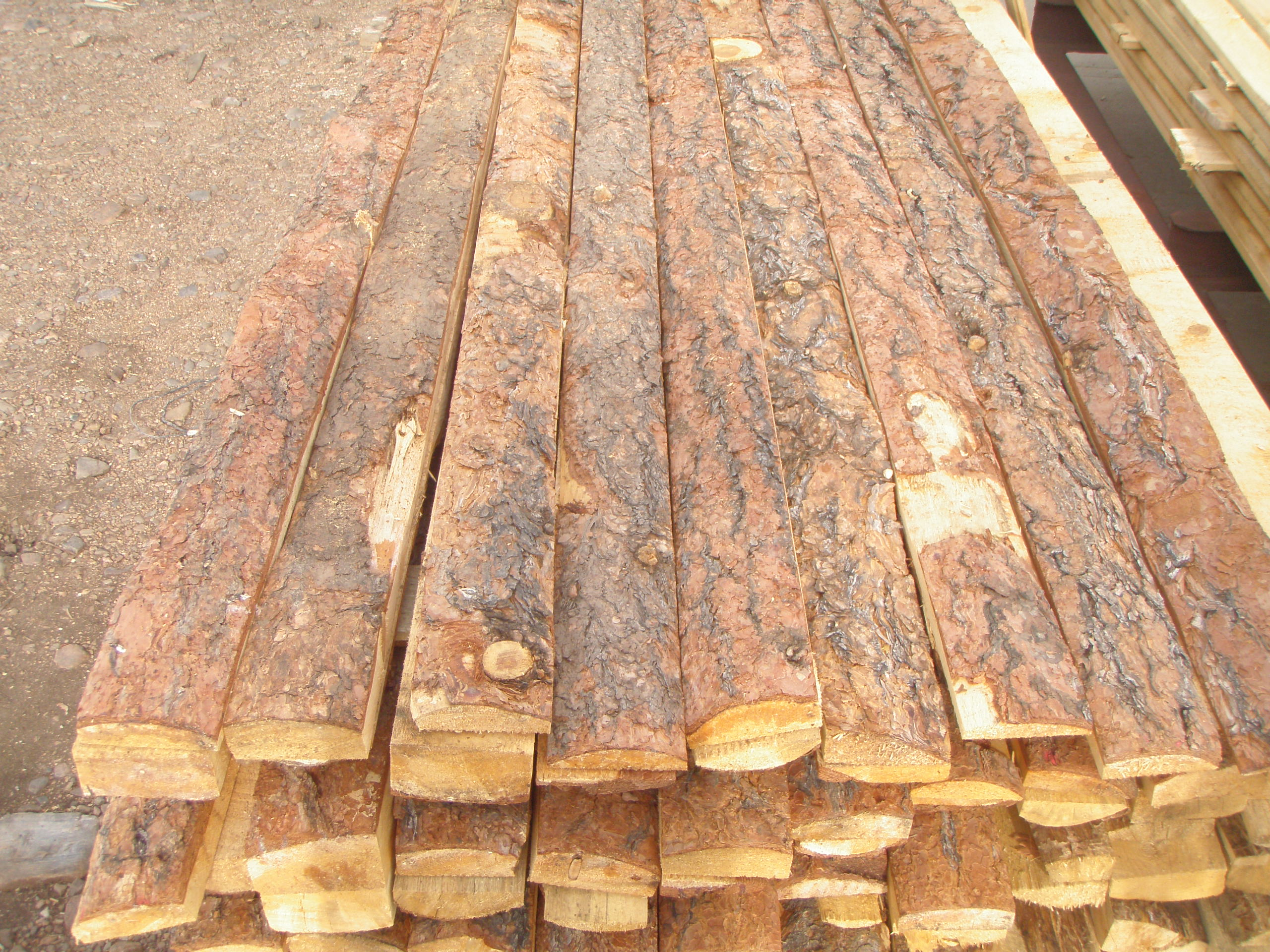 Old time lumber boulder co spit rail picket style for Log slab siding