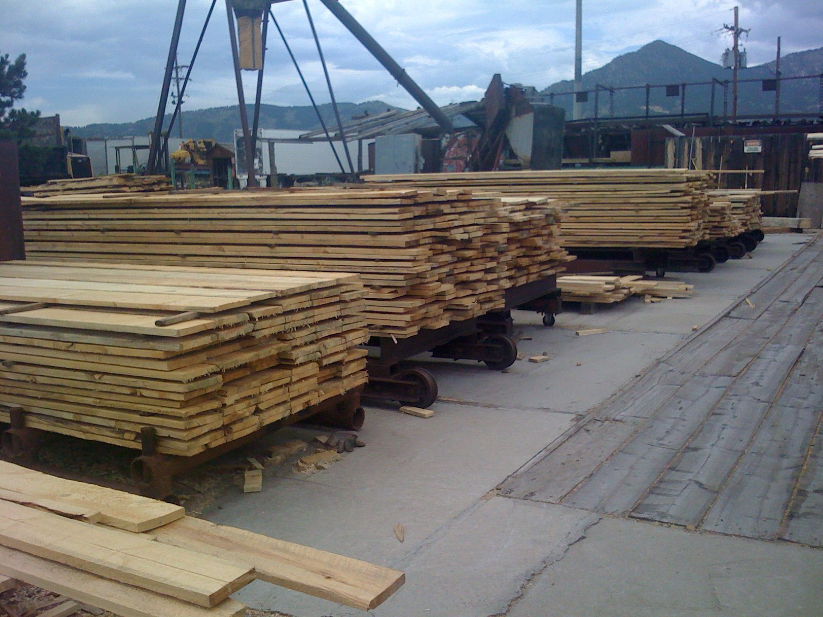Rough Lumber stacks